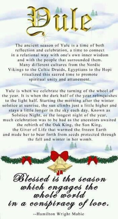 55 Best Yule Blessings Images On Pinterest Xmas Pagan