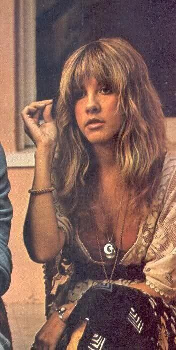stevie nicks, iconic bohemian beauty I once saw a Fleetwoowmac concert where she did nothing but flutter around the stage - all the female vocals were ably handled by Christie McVie - but I loved her anyway