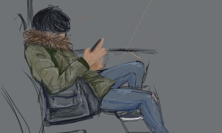 Finger sketch on ipad, on the train into penn station, New York City from long island.