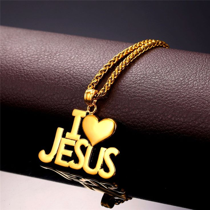 "New Hot Heart Necklace Women Men Gold Plated Stainless Steel Christian Jewelry ""I Love Jesus"" Jesus Piece Pendant //Price: $18.99 & FREE Shipping //     #accessories #necklaces #pendants #earrings #rings #bracelets    FREE Shipping Worldwide     Buy one here---> https://www.myladyempire.com/new-hot-heart-necklace-women-men-gold-plated-stainless-steel-christian-jewelry-i-love-jesus-jesus-piece-pendant/"