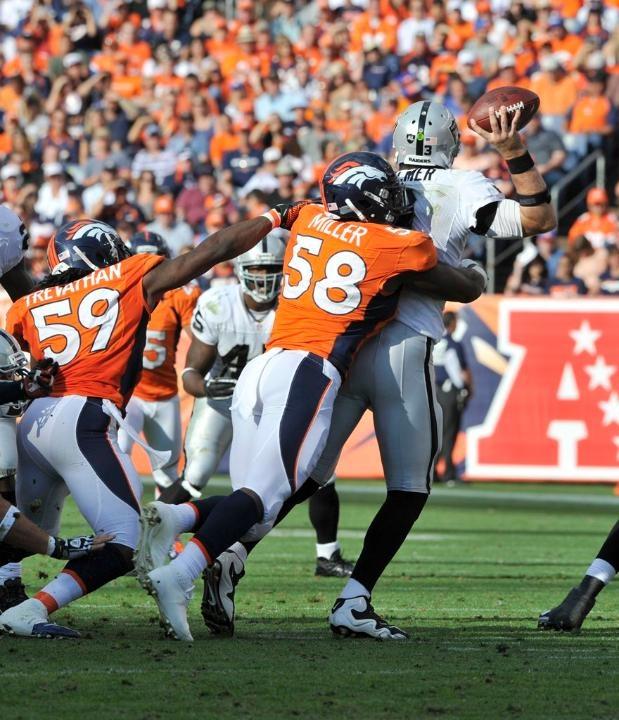 San Diego Chargers Denver Broncos Score: Von Miller, 2012 Broncos Vs. Raiders