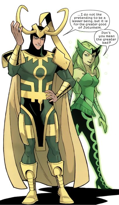 LOKI and Amora - See best of PHOTOS of the SUPERMAN villain