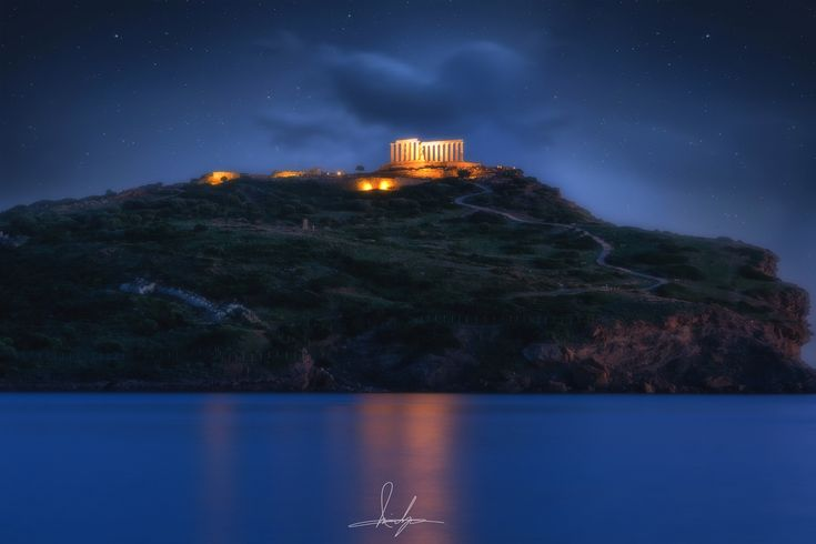 The Temple of Poseidon - The temple of Poseidon at Cape Sounion, Attica, was constructed in 444–440 BC, over the ruins of a temple dating from the Archaic Period.