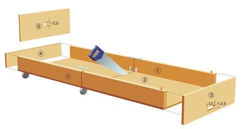 Два в одном: столик и кровать для гостей. МК . Обсуждение на LiveInternet - Российский Сервис Онлайн-Дневников
