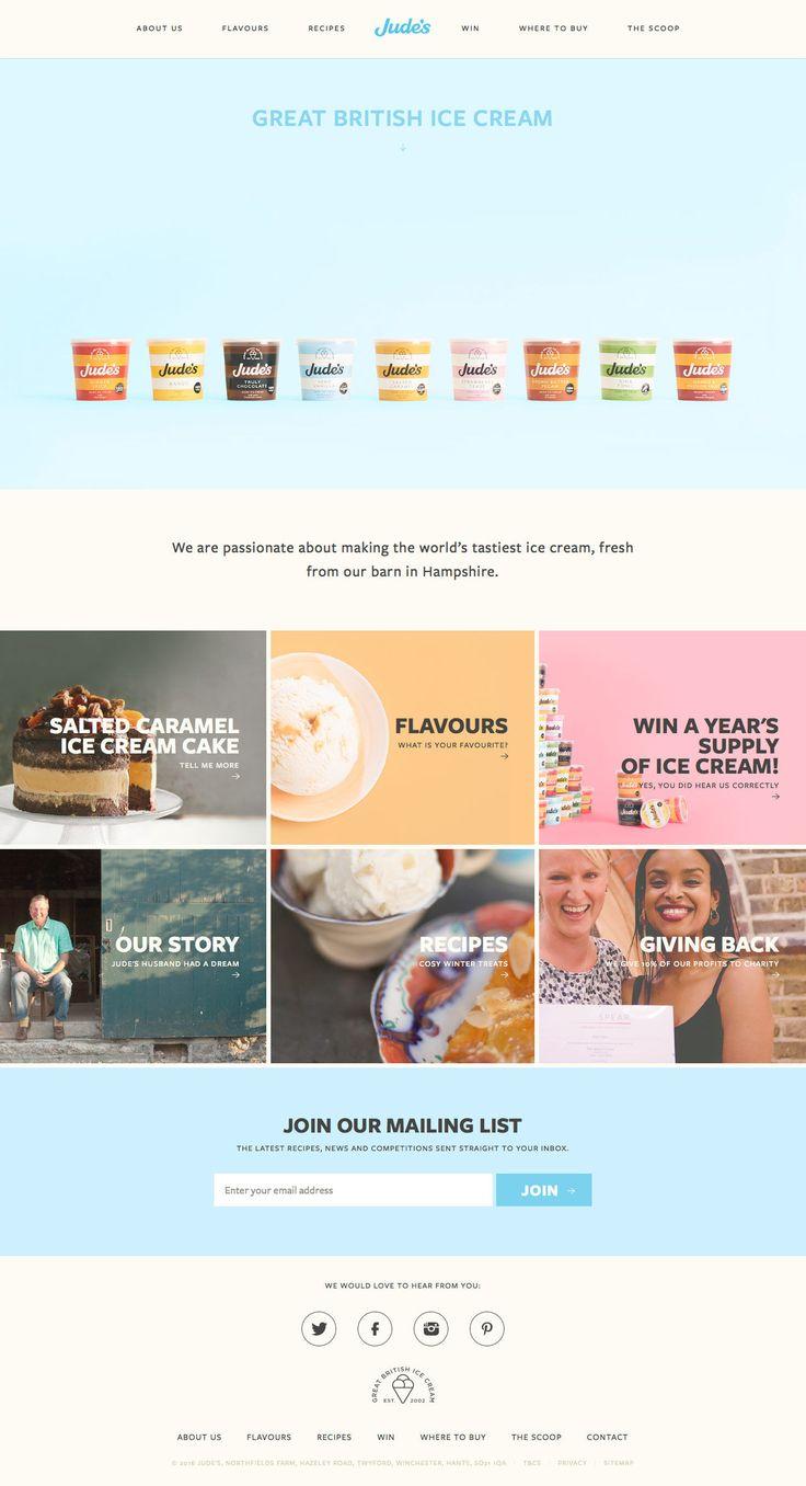Judes Ice Cream (More web design inspiration at topdesigninspiration.com) #design #web #webdesign #inspiration #sitedesign #responsive