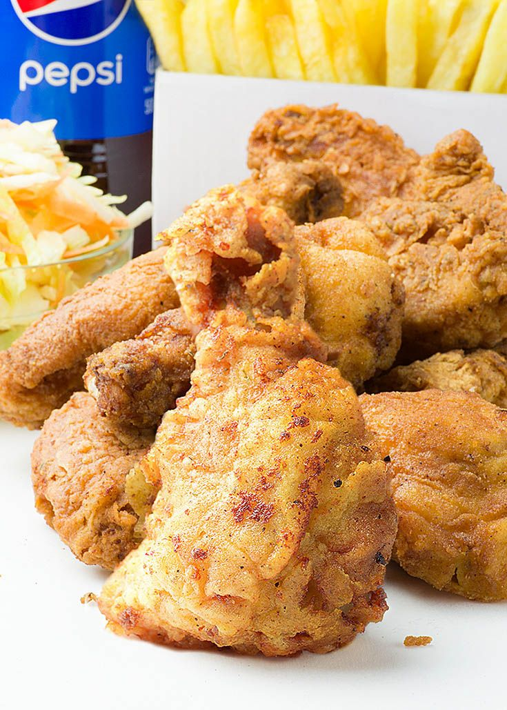This Fried Chicken recipe is perfect balance between fast food and healthy meals. It's real homemade dinner, but taste so good and it's incredibly easy to make.