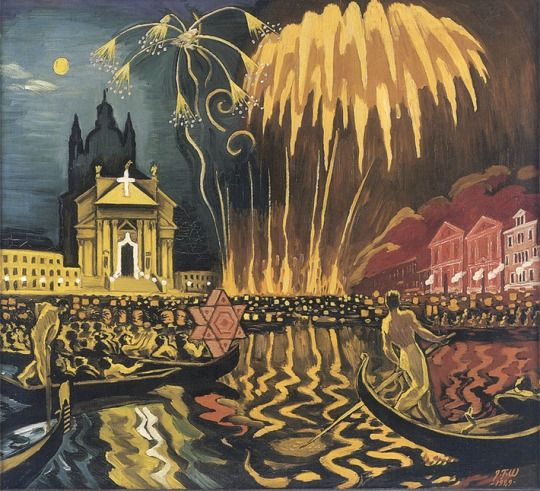 The Festival of Redentore in Venice, Palazzo Balbi on Canal, 1929, Jens Ferdinand Willumsen