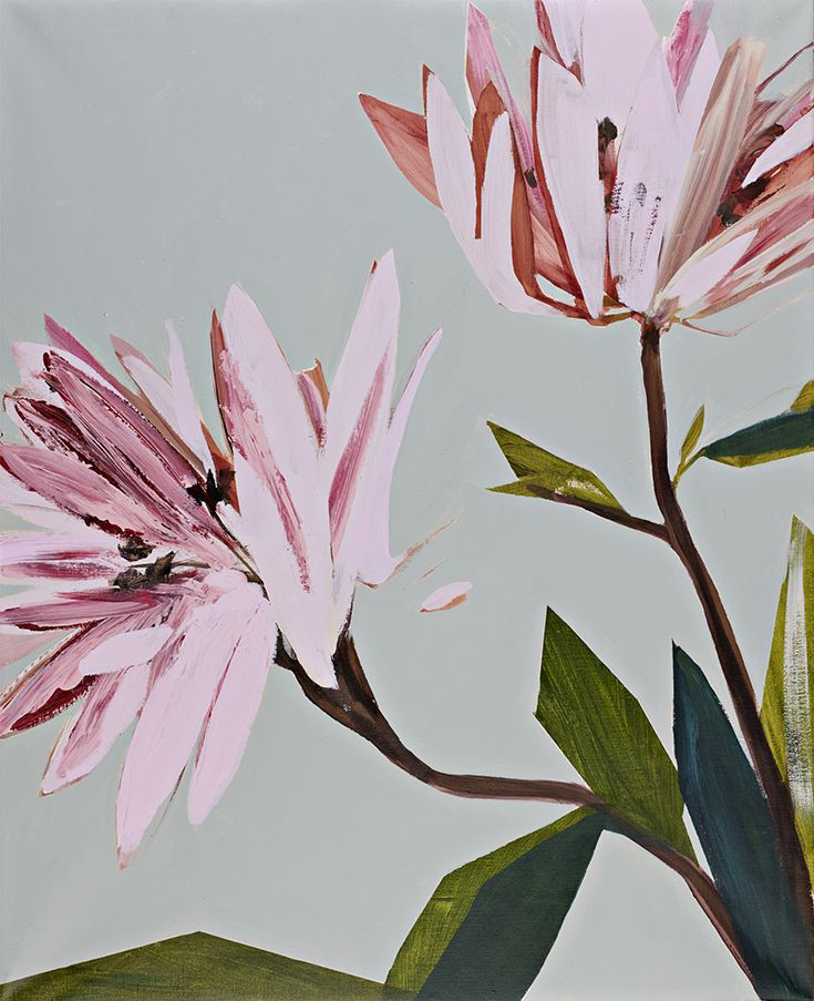 Mari Jäälinoja, Burgeon II, 2014, acrylic on canvas, 100x81cm