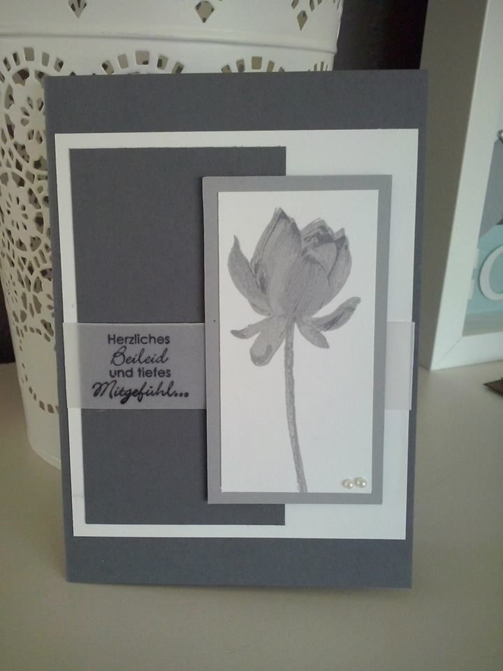 stampin up Card announcing so.`s the death Trauer Karte Trauerkarte
