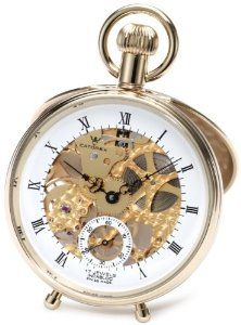 Catorex Men's 180.6.1651.110 Les Breuleux 18k Gold Plated Brass Skeletal Dial Pocket Watch Catorex. $1187.49
