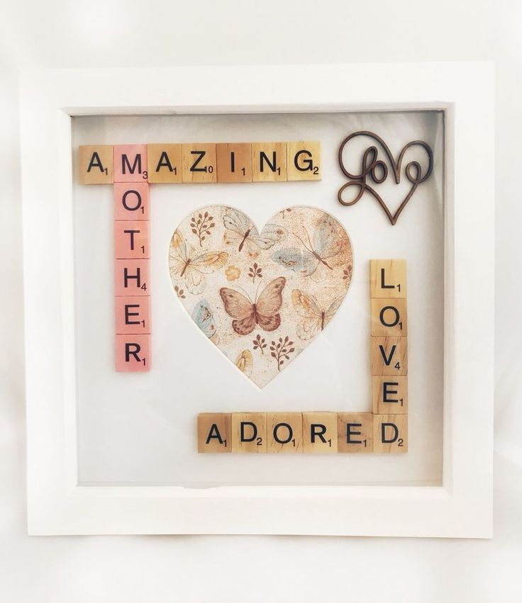 Mother Photo Box Frame. Mum Mummy Gift. Scrabble Box Frame. Amazing Mother  | eBay #motherframe #mumframe #mumgift