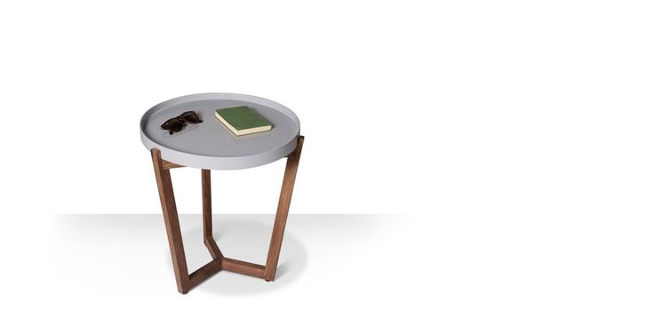 Swoon Editions Mid century style tray table: the quirky Glenn in ash grey, just £79