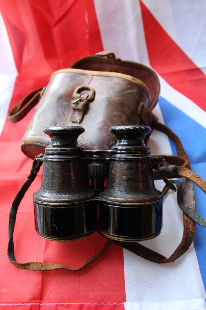 WW1 Broad Arrow Marked Officers' Binoculars & Original Case, £30.00