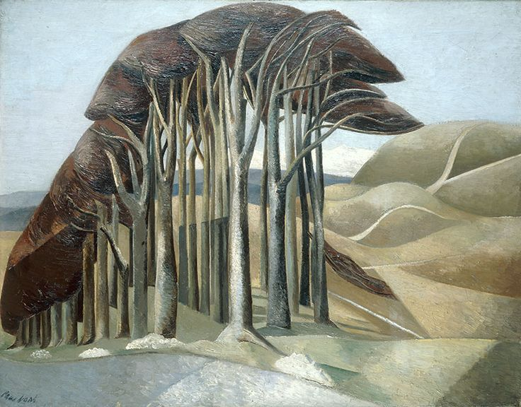 Paul Nash,wood on the downs.