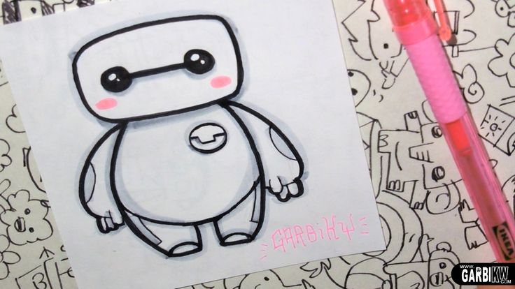 Baymax from Big Hero 6 - How To Draw Chibis and Kawaii Characters by Gar...