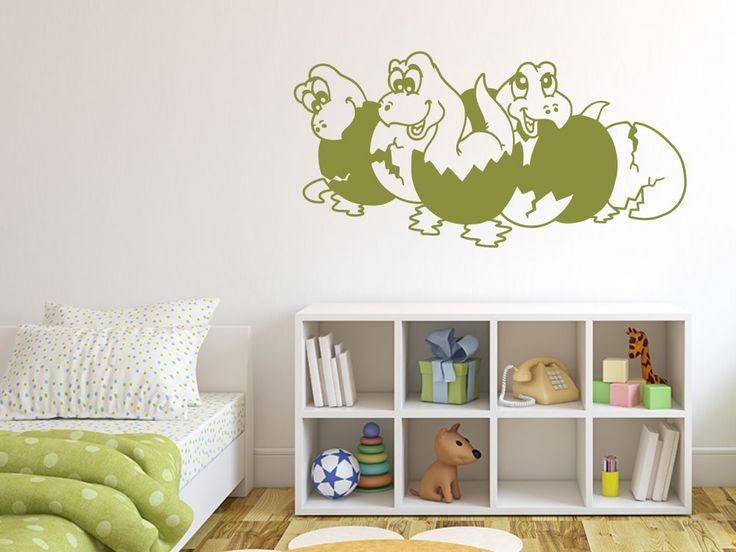 Fabulous Wandtattoo mit Dinosauriern f rs Kinderzimmer