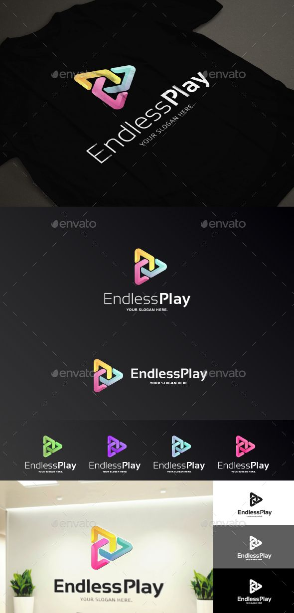 Endless Play Logo Template Vector EPS, AI. Download here: http://graphicriver.net/item/endless-play-logo-template/14257613?ref=ksioks
