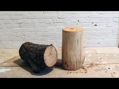 DIY Log End Table - YouTube