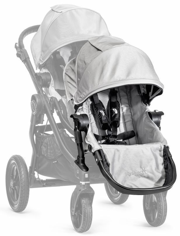 Baby Jogger City Select Twin Tandem Double Stroller Silver W Second Seat New Select Twin City Baby Jogger City Select Baby Jogger City Select Double