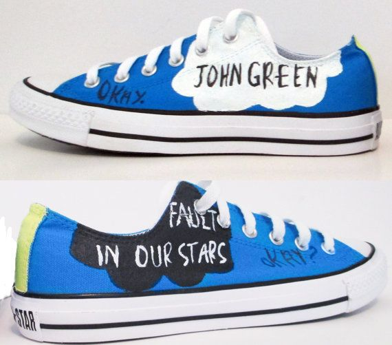 The Fault In Our Stars Handpainted Converse Shoes with Quotes I need these
