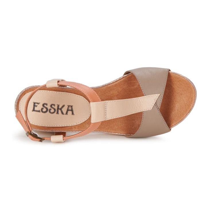 Sandale Esska JINX Gris / Crème
