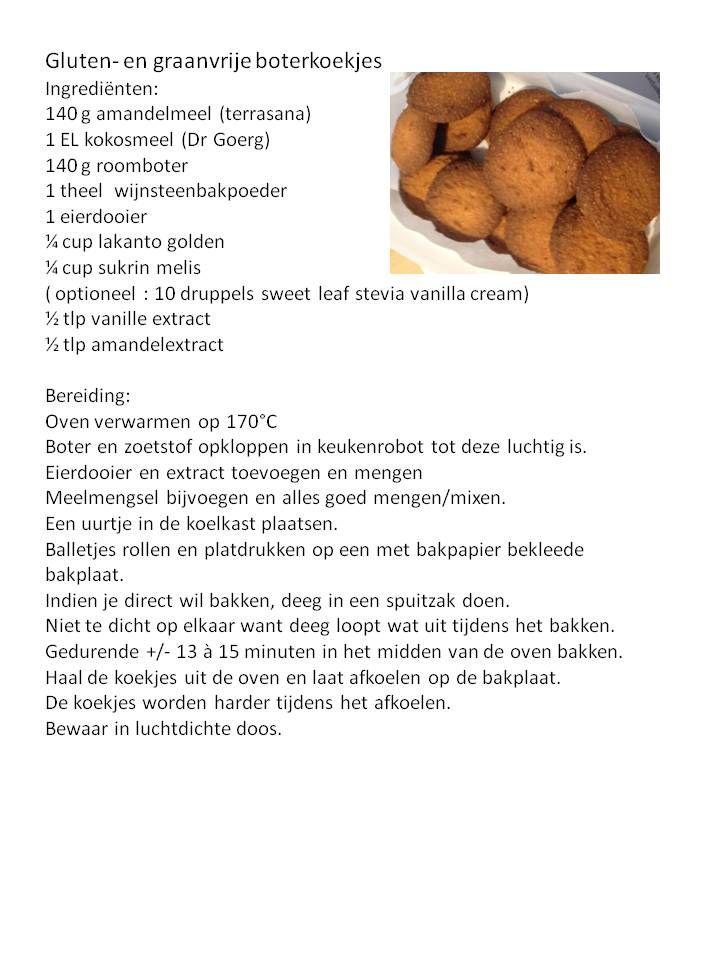 graan-en glutenvrij - suikervrij - boterkoekjes