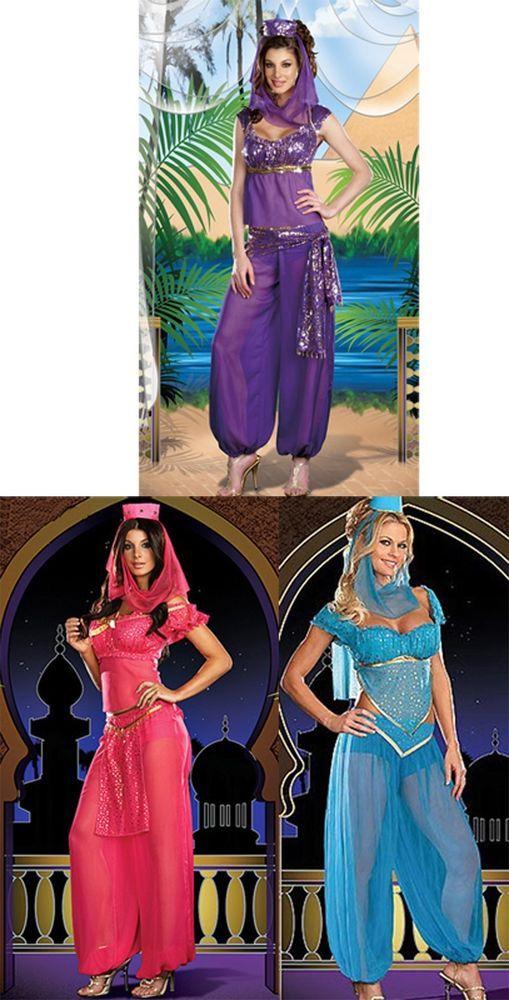$23 ea Genie costumes. Purple, Blue, Pink. S-XL