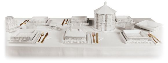 Seletti Palace - The dinner service becomes a decorative element to show, no more piles of dishes to hide.
