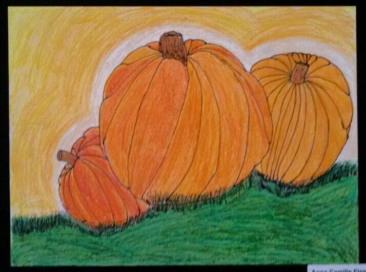 3rd Grade Pumpkins. Art Teacher Jennifer Lipsey Edwards