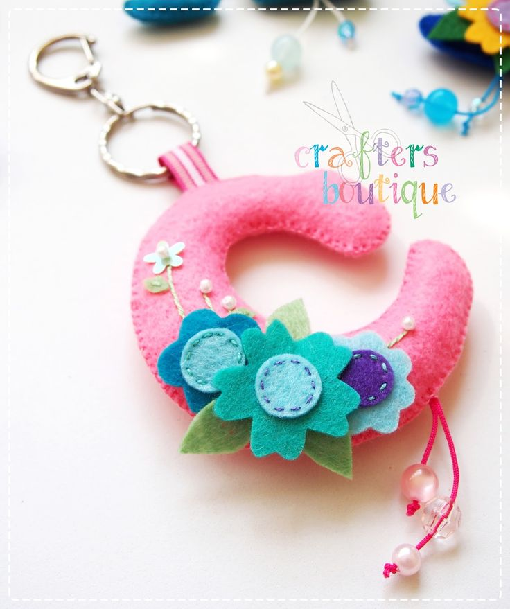 Crafters Boutique: Felt Monogram Keychains
