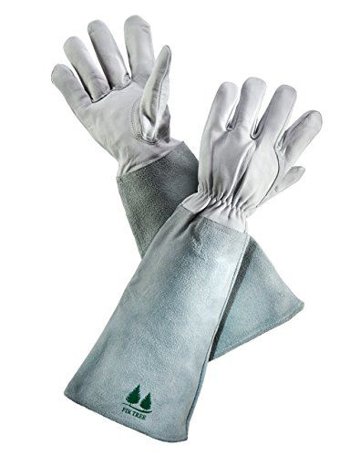 Leather Gardening Gloves By . Premium Goatskin Gloves With Cowhide Suede  Fir Tre