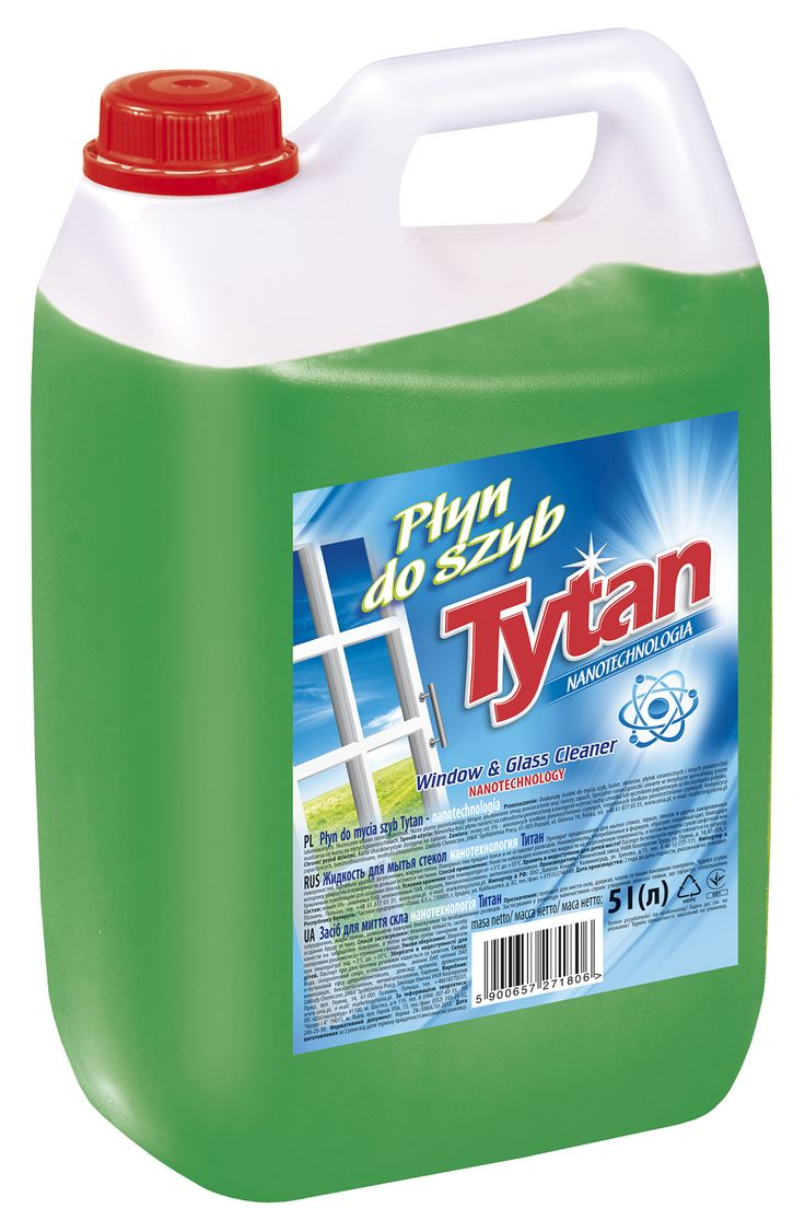 Płyn do mycia szyb nanotechnologia Tytan 5,0kg / Tytan Windows & Glass Cleaner Nanotechnology