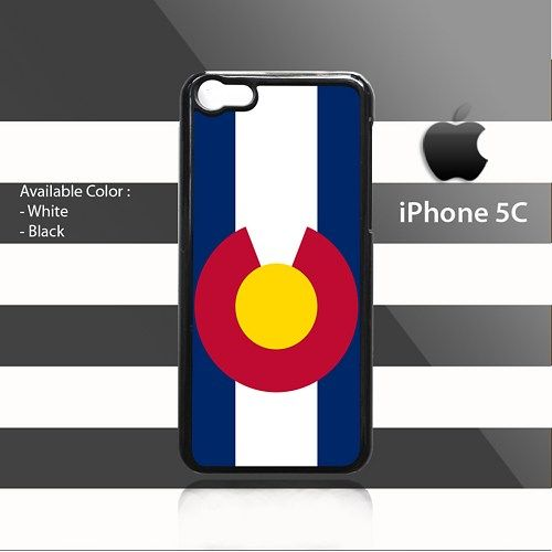 Flag of Colorado iPhone 5c Rubber Case Cover