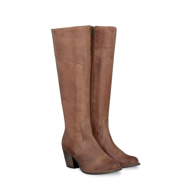 Denver Tan Fitted Womens Boots | DUO US