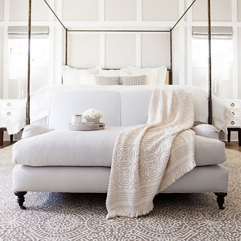 25 best ideas about bedroom sofa on pinterest ikea bed for Sofa at foot of bed