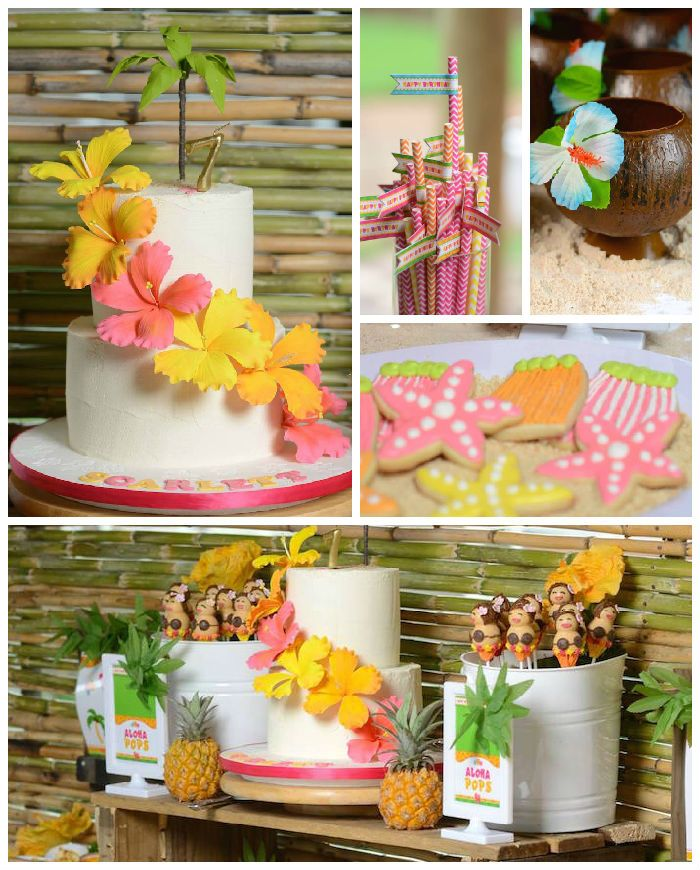 Hawaiian Luau themed birthday party via Kara's Party Ideas KarasPartyIdeas.com #hawaiianluauparty (1)