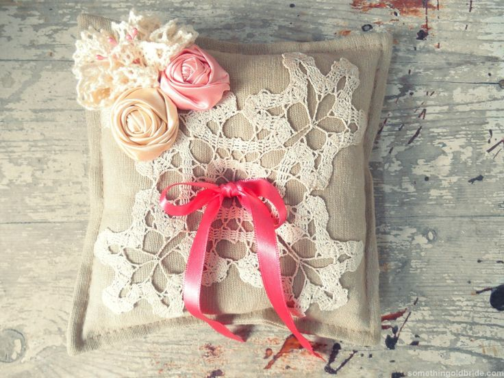 Rustic Ring Pillow by Sometinhg Old Bride http://somethingoldbride.com/
