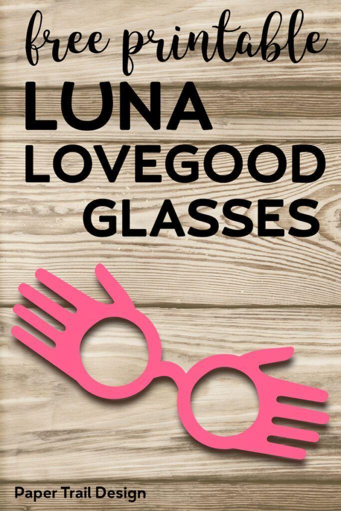Free Printable Luna Lovegood Glasses Template Paper Trail Design Luna Lovegood Glasses Luna Lovegood Luna Lovegood Costume