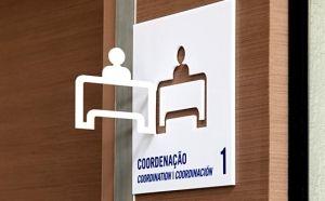 Projection signage designed by Greco Design for Fundação Dom Cabral business school. by elena