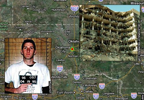 Oklahoma City, OK<br />Timothy McVeigh: Alfred P. Murrah Building Bombing