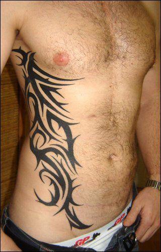 Tatouage Tribal Homme Bas Du Ventre Et Flanc Tattoo Ideas