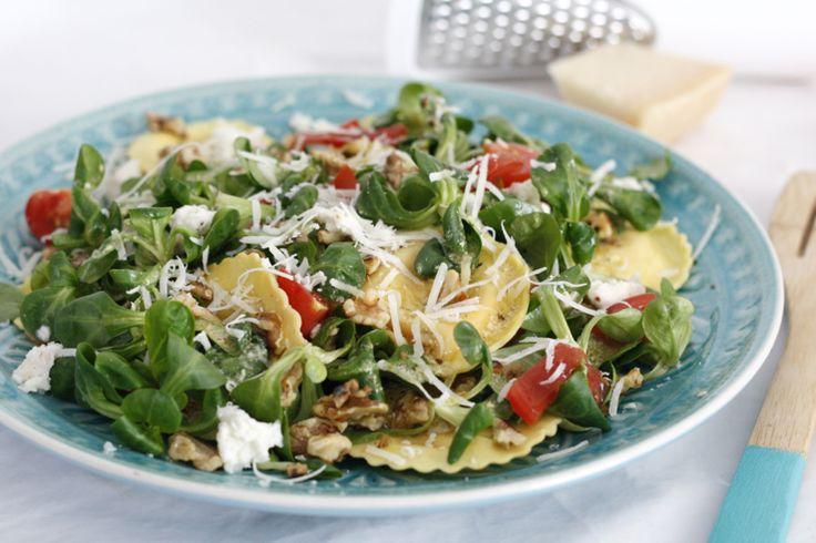 Supersnelle ravioli salade