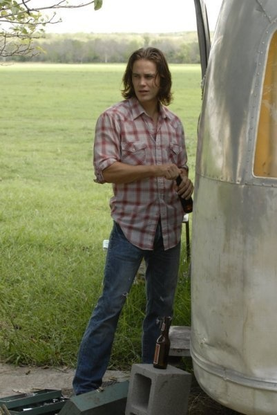 flannel shirt check worn levi's check long hair check airstream trailer check be still my heart but i love me some bad boy!