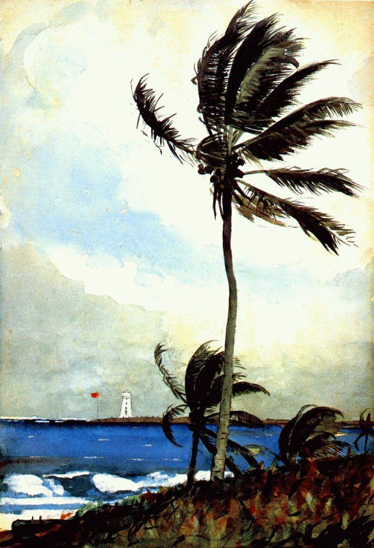 Watercolor artist magazine palm coast fl - Homer Palm Tree Nassau Winslow Homer Artists Art Might Just Art