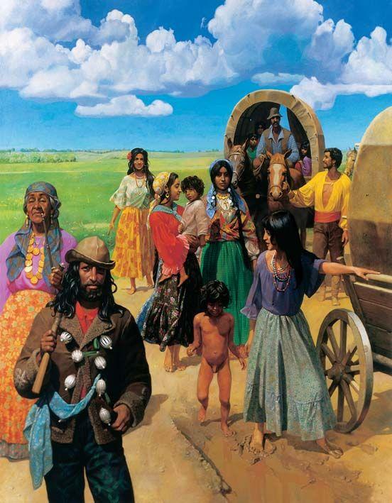 Цыганский табор картинки красивые нарисованные, женщины