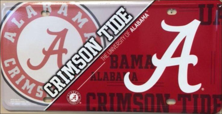Alabama Crimson Tide Tag Roll Tide Football License Plate #Alabama