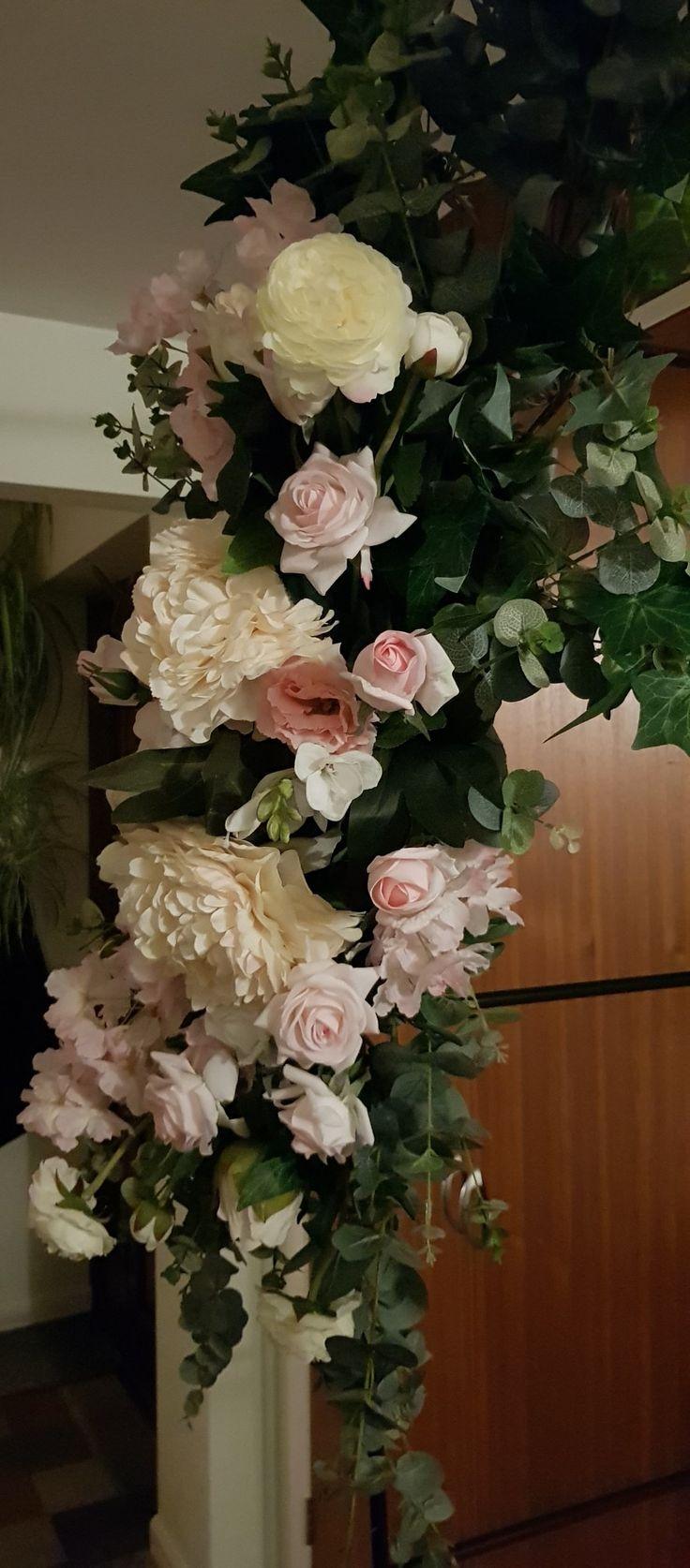 Archway swag Diy Artificial flowers, Floral arrangements