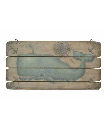 Loving this Blue Whale Wall Art on #zulily! #zulilyfinds