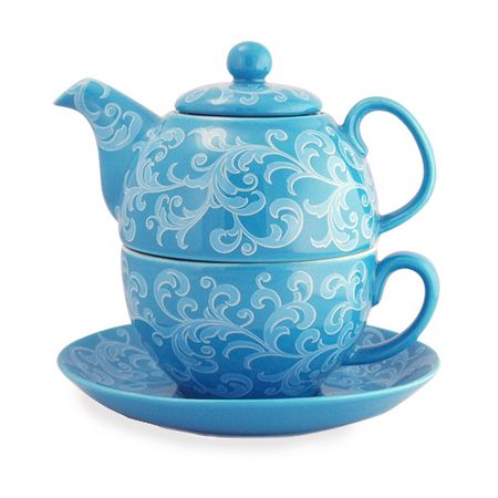 TEA FOR ONE TEAPOT CUP AND SAUCER @Katie Hrubec Hrubec Hrubec Schmeltzer Schmeltzer Schmeltzer Kader Centre