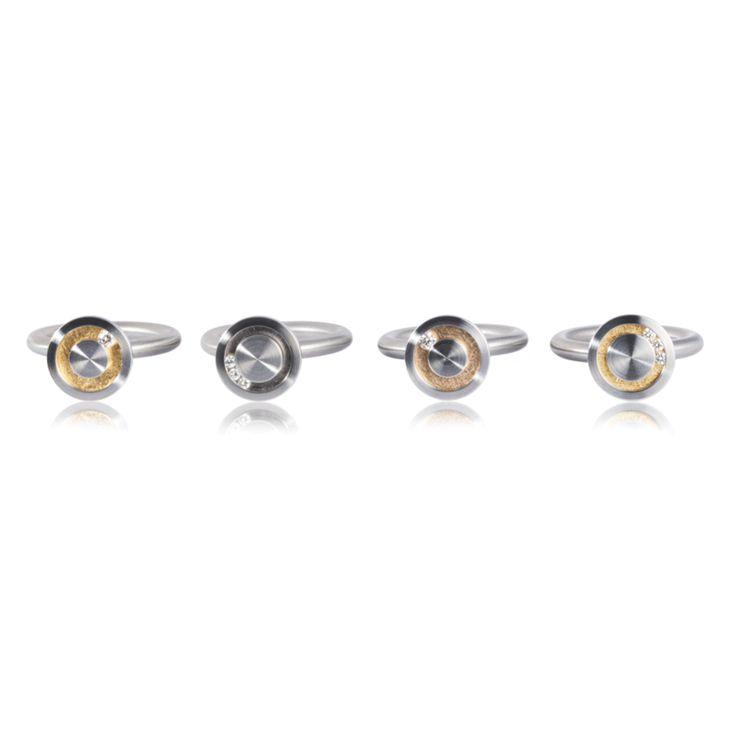 348250c13 Pur Swivel Steel amp Diamond Nr 10 Ring ORRO Contemporary